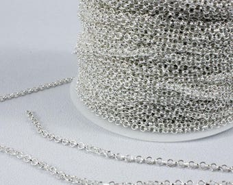5 meters of mesh chain Jaseron 2.5 x 1 mm necklace bracelet...