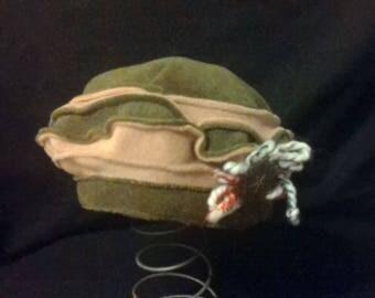 Original beret pattern wire wool and filigree on the side 06kaki/beige