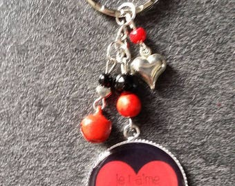 """Keychain """"I love you forever"""" 8.5 cm"""