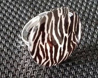 """Zebra"" Adjustable ring"