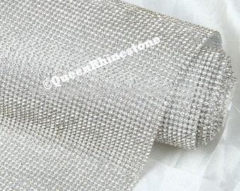 4 mm Rhinestone sheet / rhinestone fabric , 48 inches long and 20 inches wide stone size  iron-on- Highest Quality Rhinestones