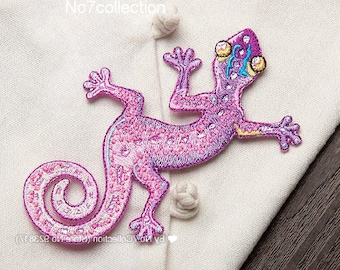 Embroidered Gekko Lizard Patch
