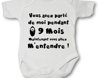 Personalized Bodysuit you talked me 9 months 100% cotton