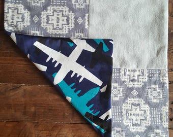 Airplane baby blanket lovey