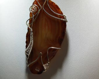 Pendant Agate and drusy