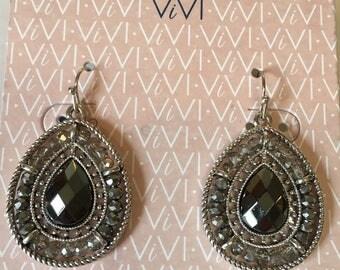 Dew Drop Earrings 1 3/4 inch 82687
