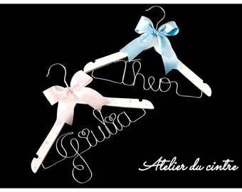 Personalized hangers children duo for christening, wedding, birthday...
