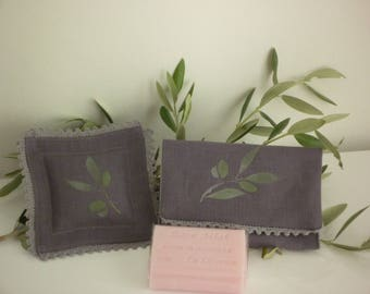 Lavender pillow and matching SOAP pouch