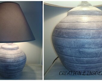 weathered Crackle effect ball lamp