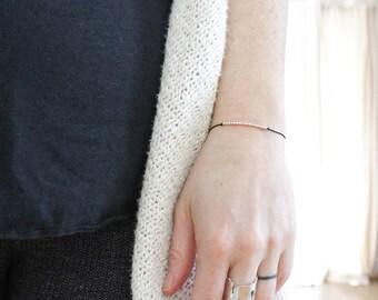 HUSTLE .... ..| ... | .|.. . Morse Code Bracelet - Sterling Silver Secret Message Jewelry - Inspirational Jewellery for Your Boss Mindset