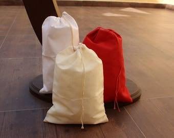 "6""x10"" Cotton Single Drawstring Muslin Bags"