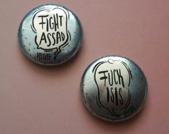 "Button set ""Fuck ISIS"""