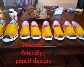 Custom Hand-painted Pencil Shoes