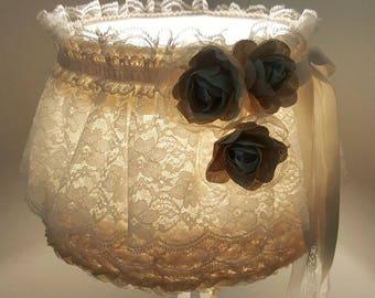 Cream lace lamp