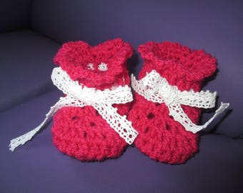 Slippers pink 3-6 month baby