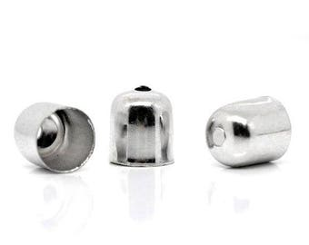 x 10 7 mm silver plated end caps.