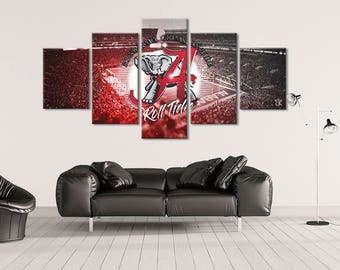 Alabama Crimson Tide Canvas Wall Art Modern Home Decor | Stretched Gallery Wrap Ready to Hang