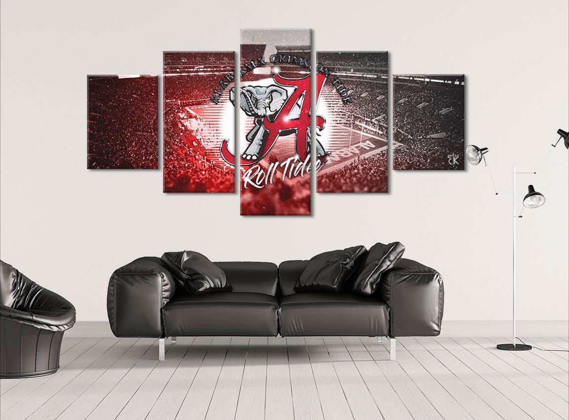 alabama crimson tide canvas wall art modern home decor. Black Bedroom Furniture Sets. Home Design Ideas
