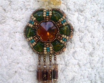 Handwoven ethnic NECKLACE *.