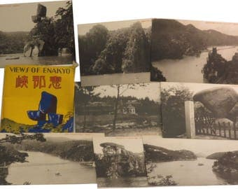 Occupied Japan 1940s Postcard Set of 8 Views of ENAKYO - Rare