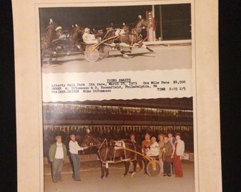 Very cool winners circle photograph March 1979 Horse Young Swartz M DiTomasso Rider