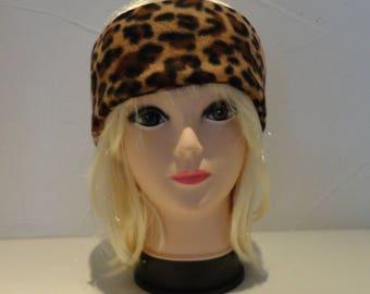 Leopard fleece ear warmer headband