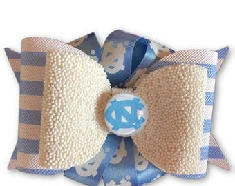 UNC Hair Bow, Tarheels, Tarheels Hair Bow, UNC bow, North Carolina Bow, UNC, College Bow