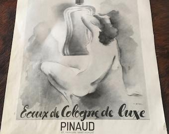Pinaud Perfume and Porto Antonat print (front and back)