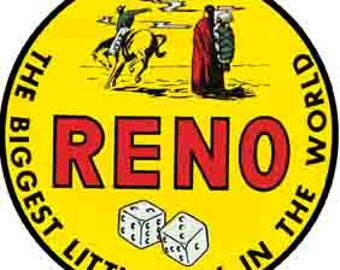 Vintage Style Reno Nevada Travel Decal sticker