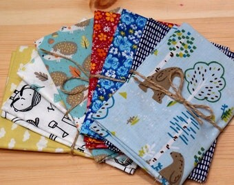 Lot 8 coupons fabric 40 x 60 cm