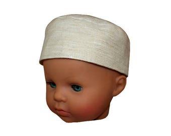 Hat ecru baby 12 months to 18 months (46 to 48 cm)