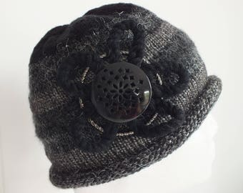 Hand-Knitted Ladies Cloche Style Hat