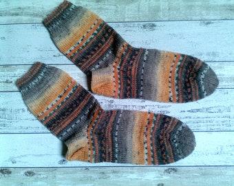 Hand Knitted Cuddle socks Gr. 38/39