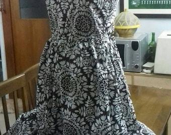 One shoulder dress African prints
