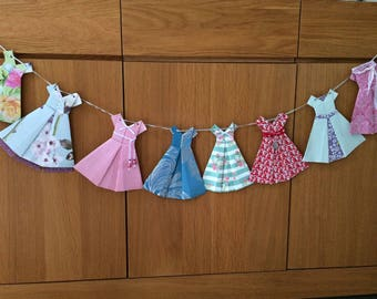 Paper Dresses Garland/Bunting- party or bedroom decorations