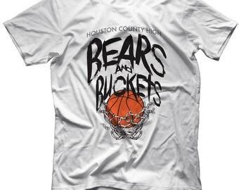 Bear Pride High School Spirit Wear Tshirt Houston County Georgia Bears HoCo Coach Gear Black White Silver Game Day Gear Pep Rally Grad Gift