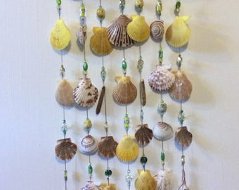 Exotic handmade seashell wind chime