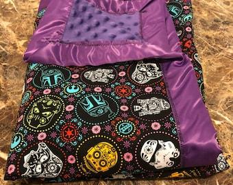 Starwars themed baby/toddler blanket!