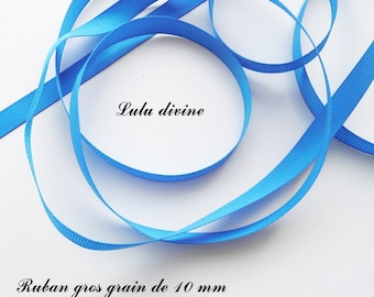Ribbon 10 mm, sold in 2 meters grosgrain: Royal Blue