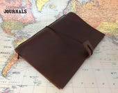 A5 Notebook Cover | A5 Planner Cover | Leather Journal | Travelers Journal | Travel Journal | Travellers Journal | Fauxdori | UK