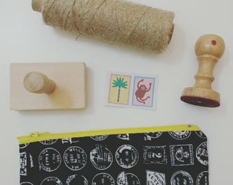 #ipiccini Postmarks mini pouch