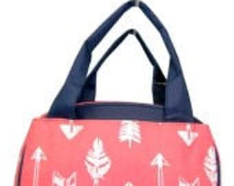 Arrows Print Lunch Bag Tote Personalized Monogram, Initials, Name