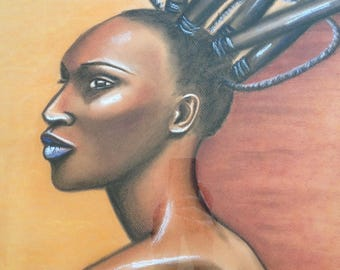 "big picture ""African woman and high hair style"""