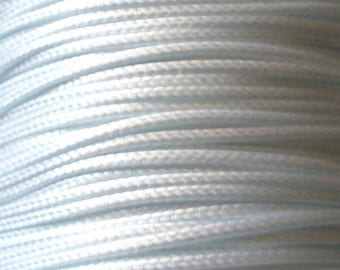 1 M Fil waxed Polyester 1 mm white (m) ACFI11