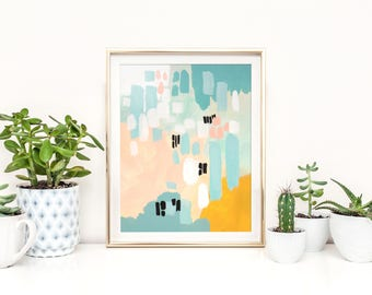 """small abstract painting, acrylic painting, original painting, pastel colors abstract painting, original art, modern art - """"Fallen in Love"""""""