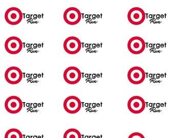 Target Run- Planner Stickers