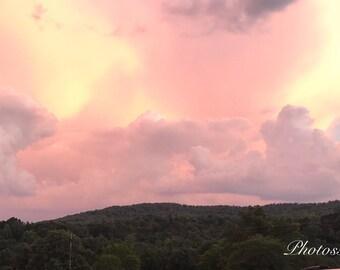 Summer sunset (11x14 in frame)