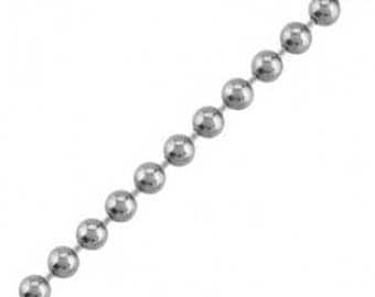 3 m string bead 2.4 mm Platinum