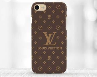Louis Vuitton iphone 8 Case Louis Vuitton Case iPhone 7 Case Brown Logo Louis Vuitton iPhone 8 plus Case Louis Vuitton accessories LV gift