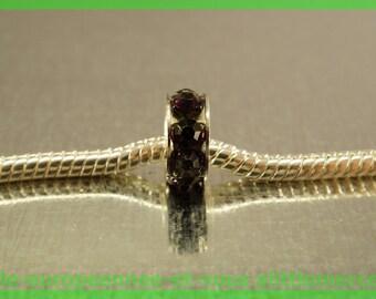 Pearl European N441 rhinestone spacer for bracelet charms